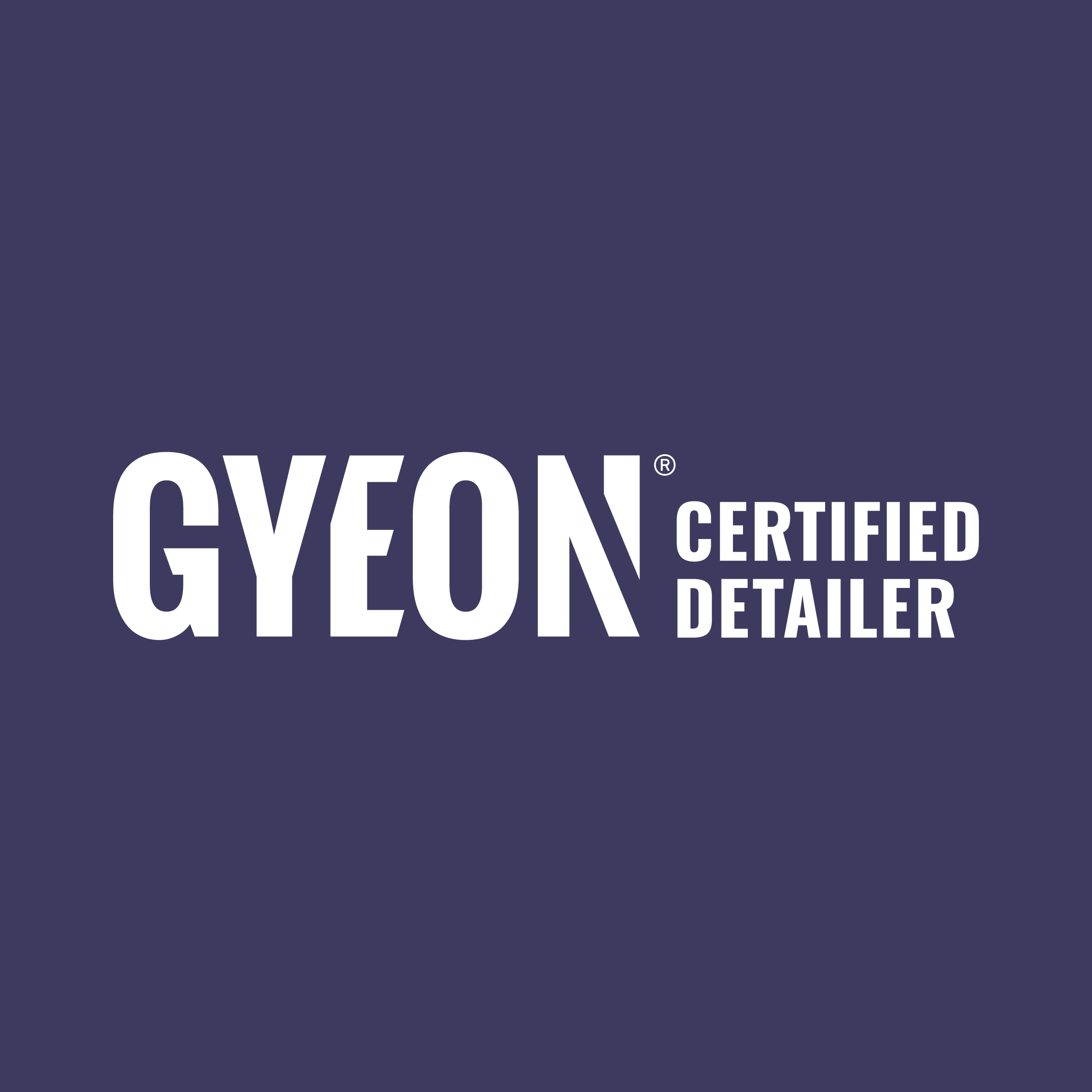custom detailing studio including gyeon logo